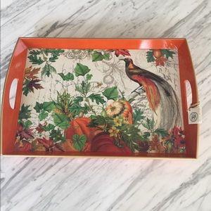 Michel Design Works Orange Lacquer Tray